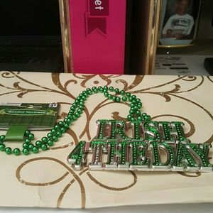 st Patricks day necklace 14 inches long